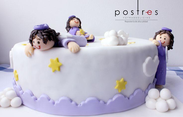 Torta Primera Comunion Angeles #angeles #tortastematicas #mesasdeduces #postresyotrasdelicias