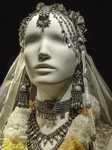 Portrait shot of Willie Scott's (Kate Capshaw's) sacrificial costume from the feature film