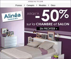 Alinéa : jusqu'à -50% de réduction sur l'univers de la chambre et autres promos | Maxi Bons Plans