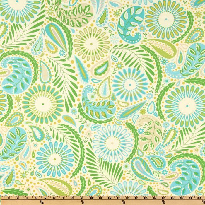 Wide Kumari Garden Sanjay Blue Fabric By The Yard