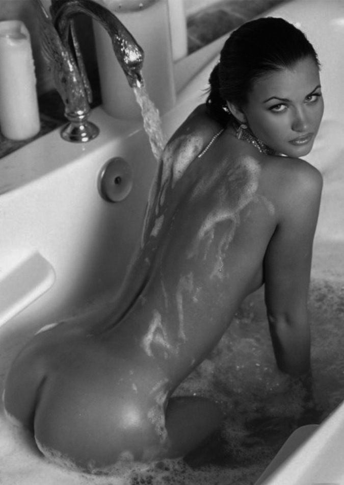 Erotic nude panty shower bath images