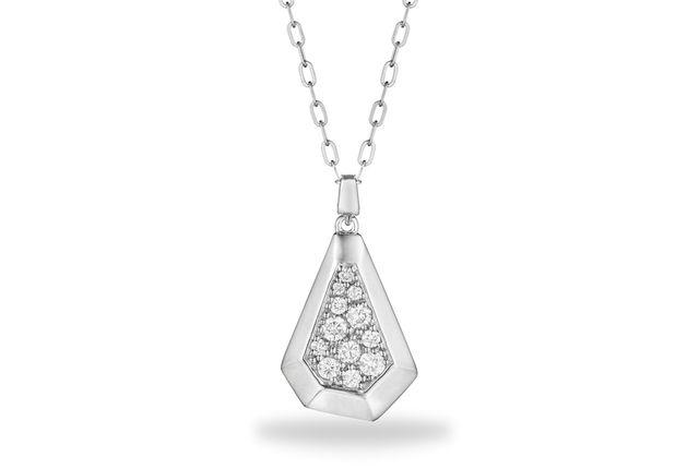 Jackson Pave Diamond Pendant - in 18kt White Gold (0.32 CTW) - J2 ngwg0014217