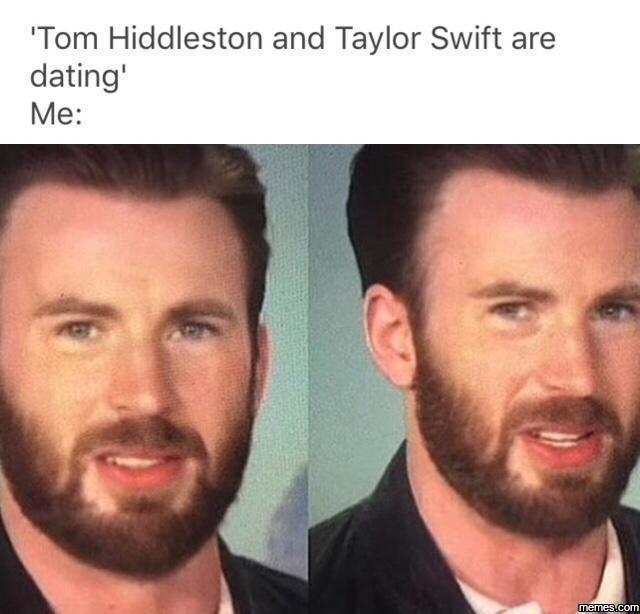 Tom Hiddleston and Taylor Swift are dating... #Funny #Memespic.twitter.com/ITIBi14EDf http://ibeebz.com