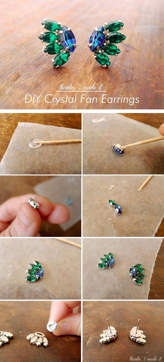 the 25+ best diy jem earrings ideas on pinterest | diy crystal