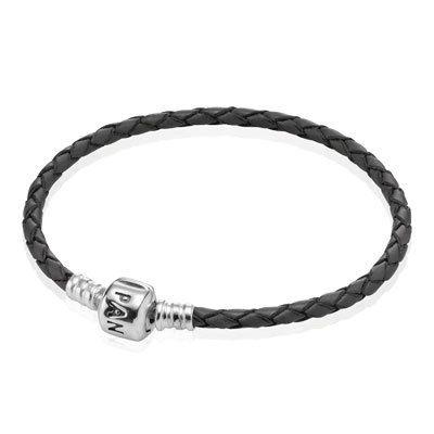 Bracelet Double Cuir Gris Pandora | IUCN Water