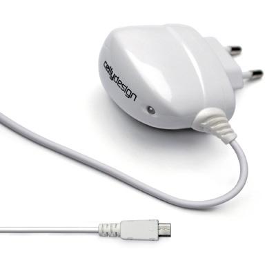T1MICROW è il caricabatterie da rete micro usb bianco lucido: nuovo, leggero e compatto, è più potente per ricaricare ancora più velocemente smartphone di nuova generazione con ingresso micro usb. Dotato di output 1A, luce led, cavo da 1,4m di lungheza e logo CellyDesign, è il caricatore più potente della gamma.
