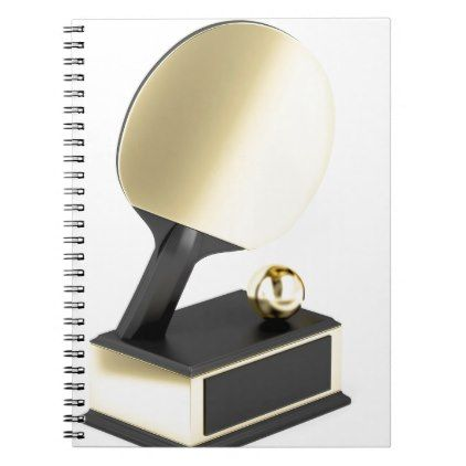 #Table tennis trophy notebook - #office #gifts #giftideas #business