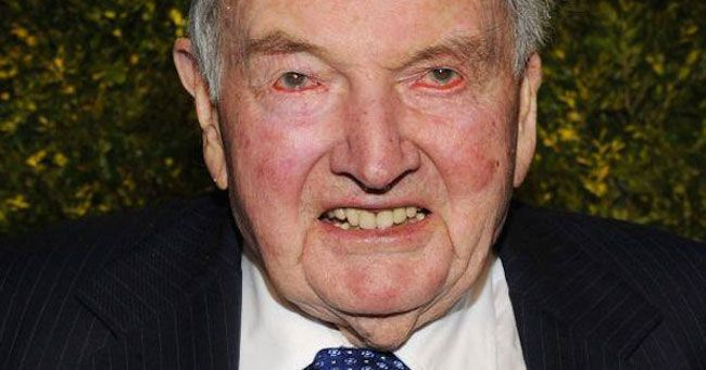 DAVID ROCKEFELLER RESPONDS TO CONSPIRACY OF 'NEW WORLD ORDER' : SAYS IT'S TRUE - David Rockefeller is a part of American history and the only billionaire in the world who is over 100 years old. The richest oldest man on the planet is due to turn 101 in June. He is part of a family dynasty whose name is associated with America and has become legend. His... #bilderberggroup