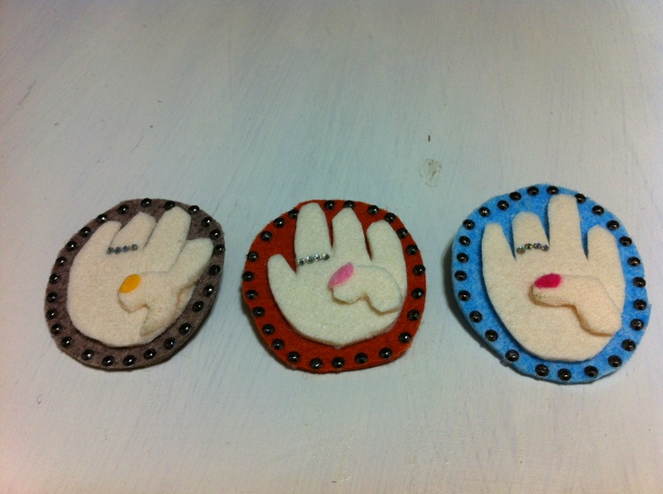 Right hands to do ballet-for kids. (Brooch) made by mama kong.