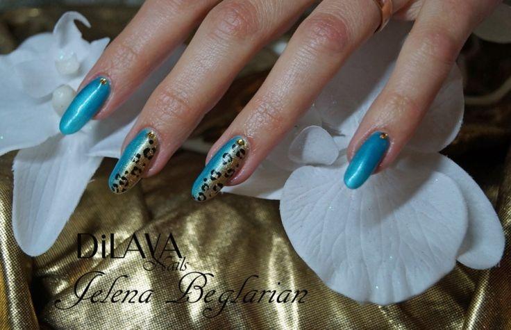 Blue & print