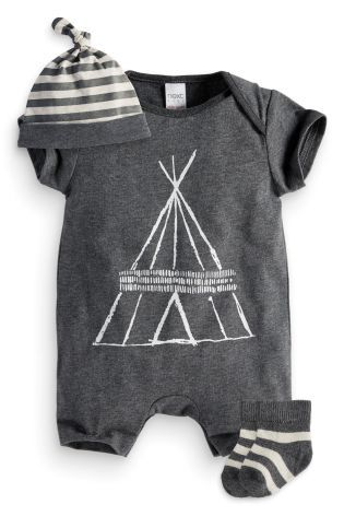Buy Three Piece Romper, Hat And Socks Set (0-18mths) online today at Next: United States of America