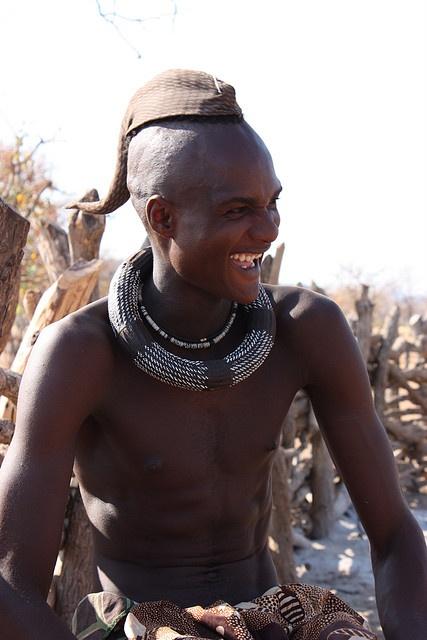 Africa | A smiling Himba man. Kaokoveld, Namibia | © Gabi ~ gvst* on flickrTribal Jewelery, African Trib