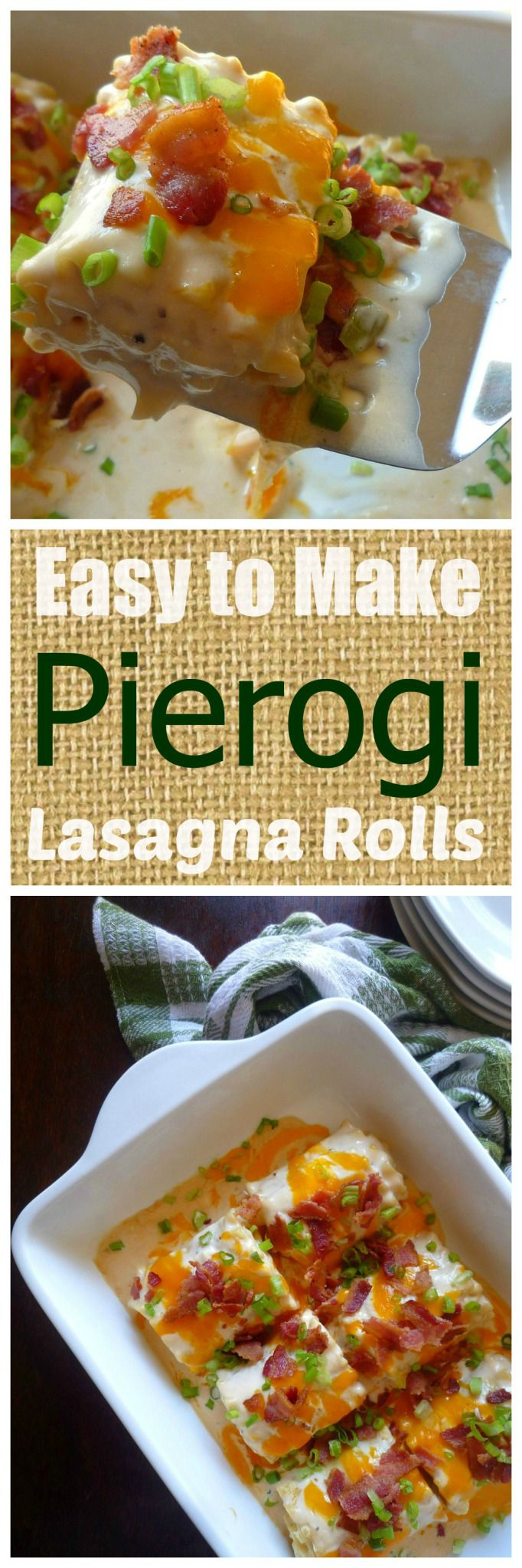 Easy to Make Pierogi Lasagna Rolls are for those of us housewives that do not look forward to spending hours in the kitchen making Old Fashioned Polish Pierogies, but enjoy the delicious taste of a homemade pierogi. Traditionally Pierogies are pretty time-consuming being they are made by making a homemade dough and wrapping the dough around a savory or even sweet filling; then cooked in salted boiling water.