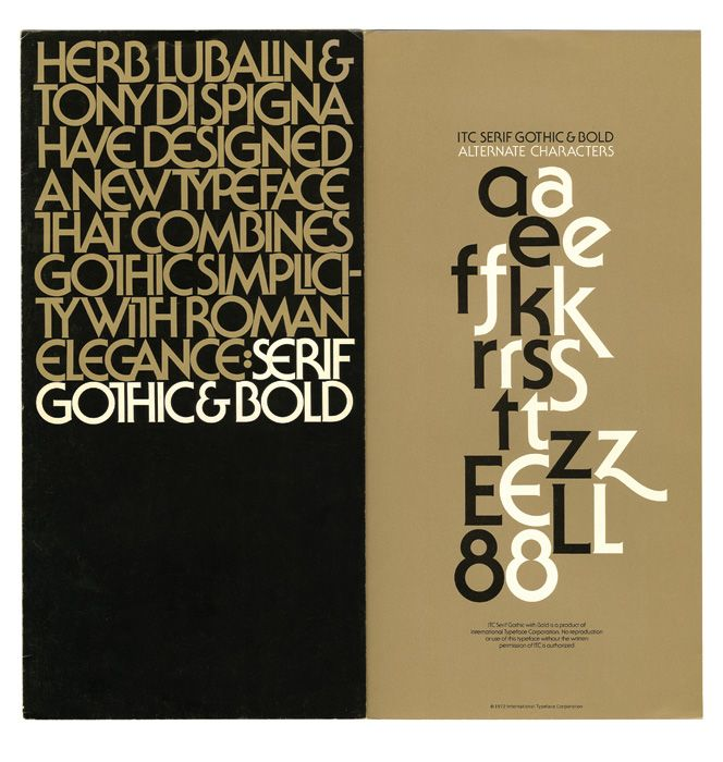 For all the rhetoric in design about using type expressively and emotively' deliberate attempts to inject typographic work with sentimentality almost always come across as cheesy or contrived in practice. Herb Lubalin's work' on the other hand' punches straight at the gut. Using only letterforms' this mark perfectly personifies a quote from writer Caskie Stinnett: […]