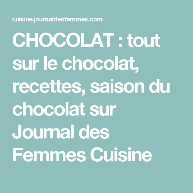 Las 25 mejores ideas sobre journal de femmes cuisine en pinterest journal - Journal de femmes cuisine ...