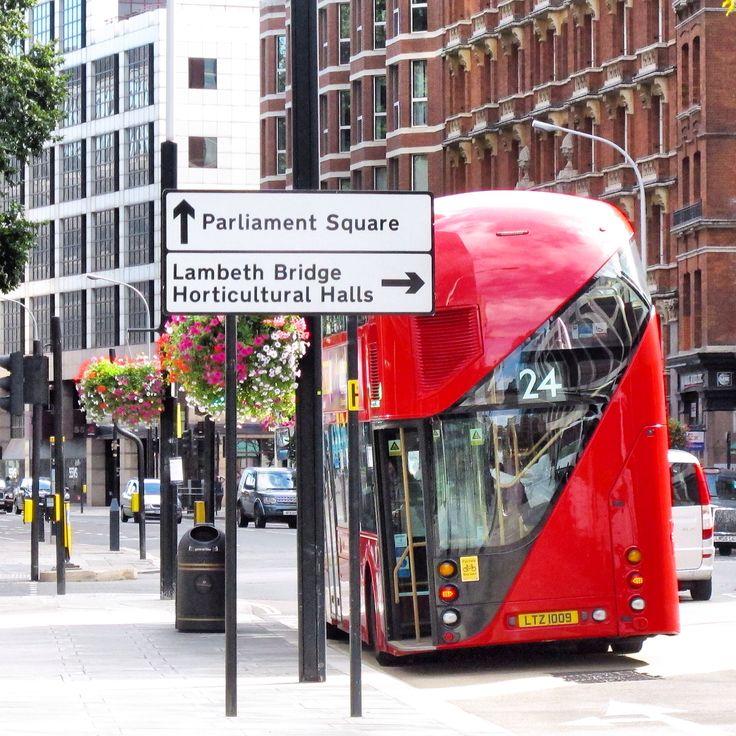 Modern double decker bus.