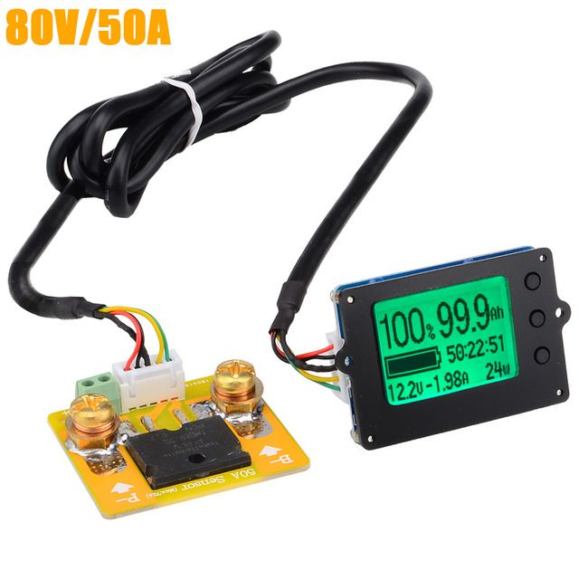 New Tf01n 80v 50a Coulometer For Battery Capacity Display Tester Electric Parameter Instrument Power Display Monito Batteries Testers Tester Electrical Testers