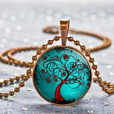 Turquoise and red tree pendantRed Trees, Trees Gem, Green Tree Lockets, Sweets Lord, Gift Ideas, Burton Movie, Trees Pendants Beautiful, Absolute Gorgeous, Tim Burton