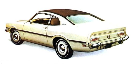 My first car. Google Image Result for http://www.productioncars.com/send_file.php/ford_maverick_rear_white_1973.jpg