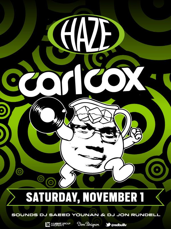 HAZE closes out Halloween Weekend and a stellar run through Vegas nightlife history with a special live guest set from legendary deep house DJ Carl Cox.