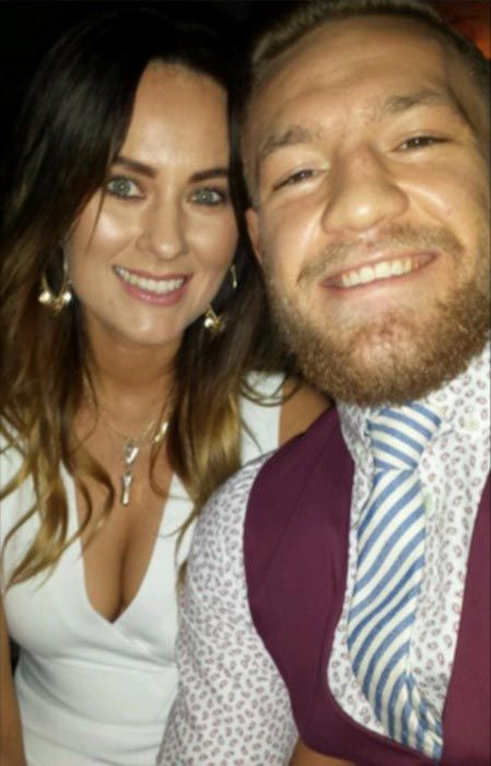 Conor McGregor and girlfriend Dee Devlin....