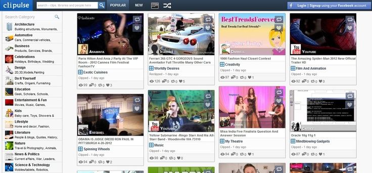 Discover, Bookmark And Share Videos With Clipulse - #content #curation can only log in with FB account.