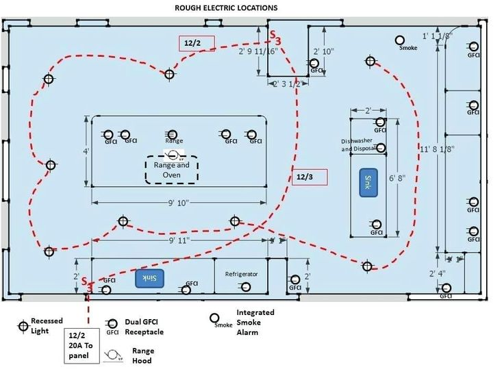 Kitchen Electrical Wiring Diagram Copy Diagrams Schematics