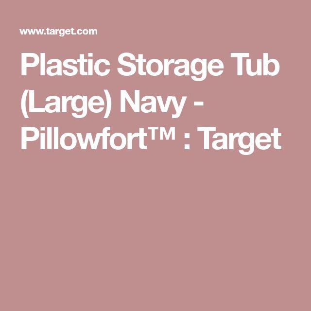 Plastic Storage Tub (Large) Navy - Pillowfort™ : Target