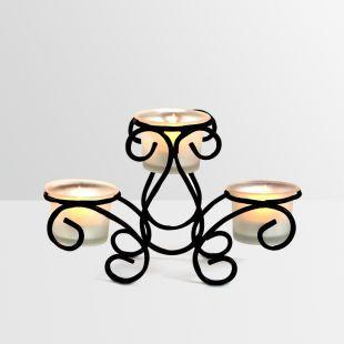 Buy Hosley Long Frosted Decorative Tea Light Holder Online in India - HO532DE49QFQINDFUR - FabFurnish.com