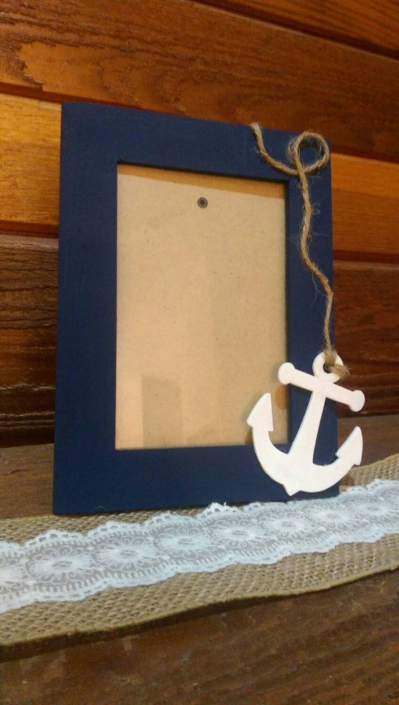 Check out this item in my Etsy shop https://www.etsy.com/listing/250219504/navy-blue-anchor-picture-frame