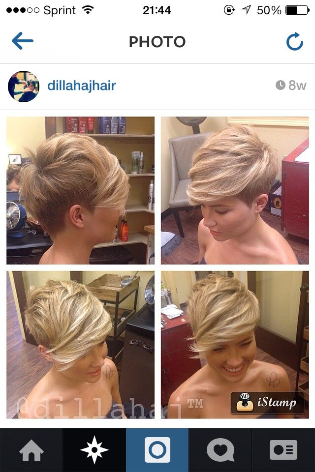 When I cut my hair short it will be this! Asymmetrical pixie.... love love love this