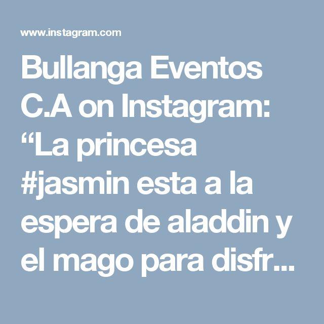 """Bullanga Eventos C.A on Instagram: """"La princesa #jasmin esta a la espera de aladdin y el mago para disfrutar de un dia de aventuras y diversion #Aladdin #disney #aladdinparty…"""""""
