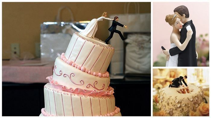 17 Hilarious Wedding Cake Toppers That Will Make You Laugh | Diply