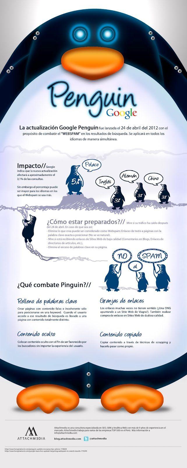 Google Penguin   #infografia #google #google-penguin  Visite nuestra web http://publistudioltda.com le explicamos como darle la bienvenida a google penguin, Publistudio ltda Diseño de Páginas Web, Posicionamiento en buscadores (seo),    produccion de videos empresariales, fotografía profesional e impresión digital.