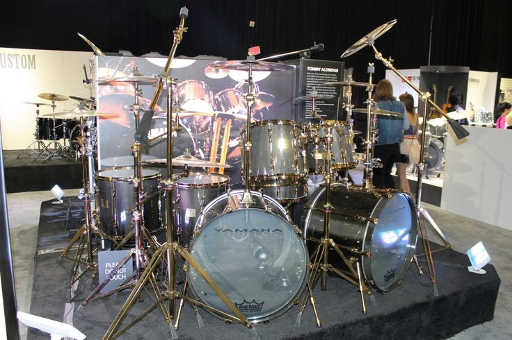 Yamaha Tommy Aldridge Custom Carbon Set #Drums #NAMM # ...
