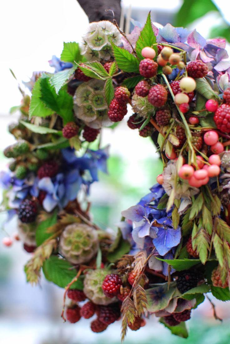 Flower School Catherine Muller: Ecole de fleuriste Catherine Muller couronne de saison