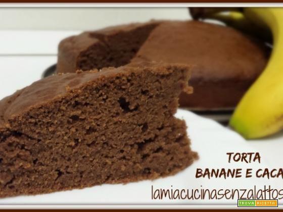 Torta banane e cioccolato senza uova senza lattosio #ricette #food #recipes