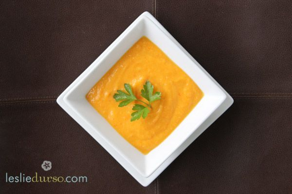 Creamy Carrot Soup that happens to be vegan :)