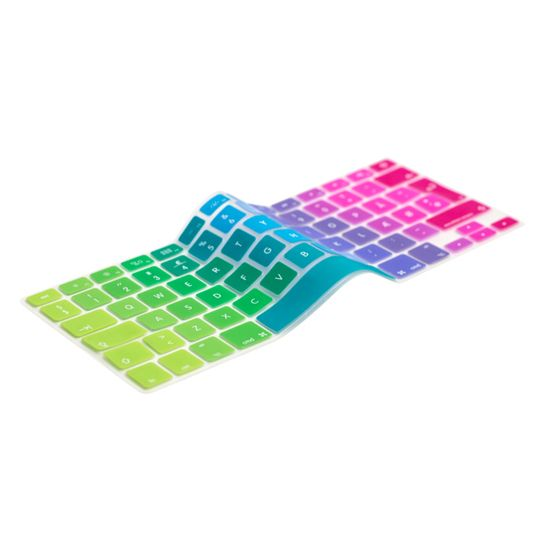 English Rainbow Keyboard Cover Prolongs the life of your MacBook. Protects your keyboard against dirt, liquids, dust etc. The thinnest and most precise keyboard protection cover.