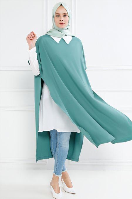 Refka Yeşil Gömlek Tunik Takım
