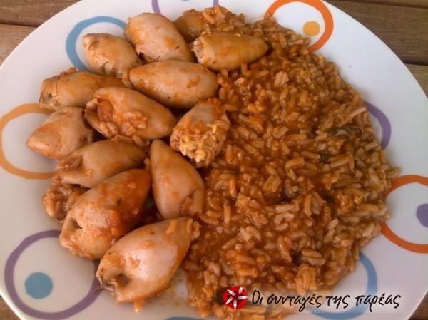 Καλαμαράκια γεμιστά με ρύζι #sintagespareas