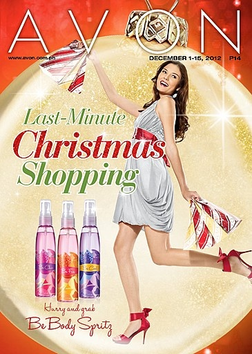 Do your last-minute Christmas shopping with Avon! No holiday traffic, no Christmas rush! Check out our brochure at http://www.avon.com.ph/PRSuite/pr_ebrochure.page