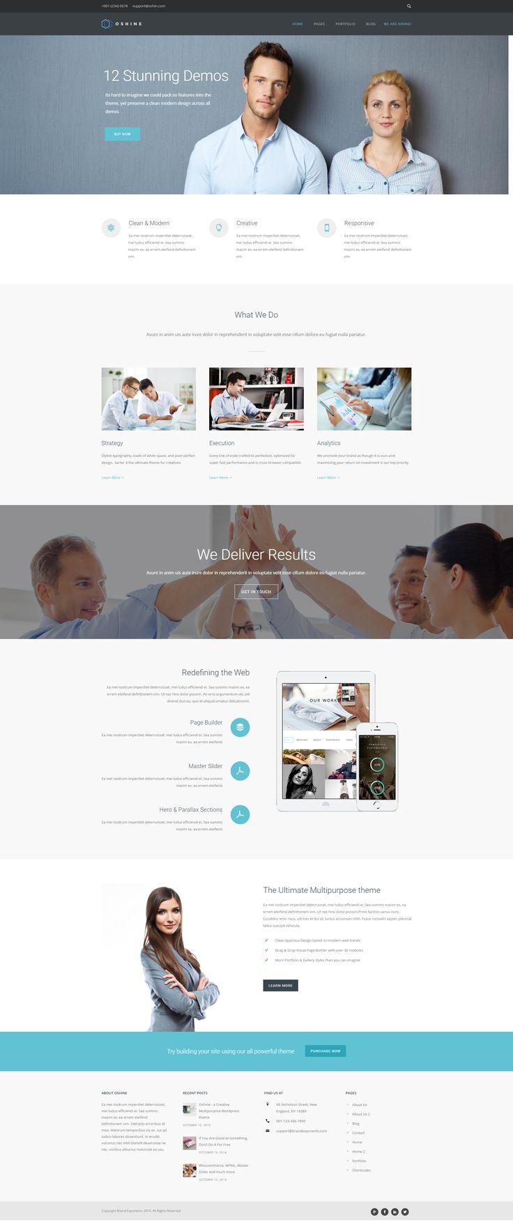 Oshine- Corporate - Creative Multi-Purpose #WordPress #Theme  Is a beautiful #creative multi-layout, multi-purpose wordpress theme with 27 unique demos. #website