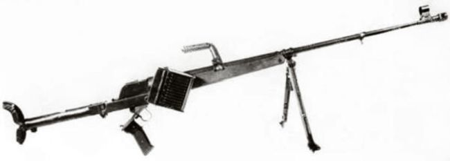 PzB-39 Anti-tank Rifle: This rifle was adopted in 1940. This rifle has similar layout but much simplified design.  For transportation, tubular buttstock folds to the right and a carrying handle is provided on the barrel. Folding bipod is attached to the front of the stock. Equipped with fixed iron sights, zeroed for 400 meters range. Less than 40 000 of these guns were delivered to Wehrmacht-Heer in 1940 / 41.