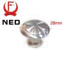 NED Brand 20PCS Diameter 28mm Cabinet Stainless Steel Circle Handles Drawer Door Furniture Wardrobe Knobs Pull Handle Hardware(China (Mainland))