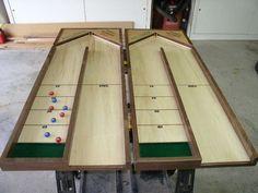 Table top shuffle board