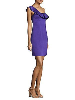 """Trina Turk 36"""" Ruffled Dress rayon $148 in 0 2 4"""