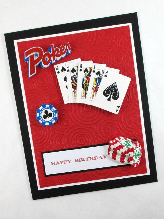 Birthday card poker texas hold em poker by BellaCardCreations