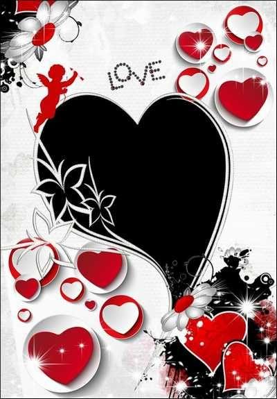 Love photo frame download ( free photo frame psd + free photo frame png, free download )