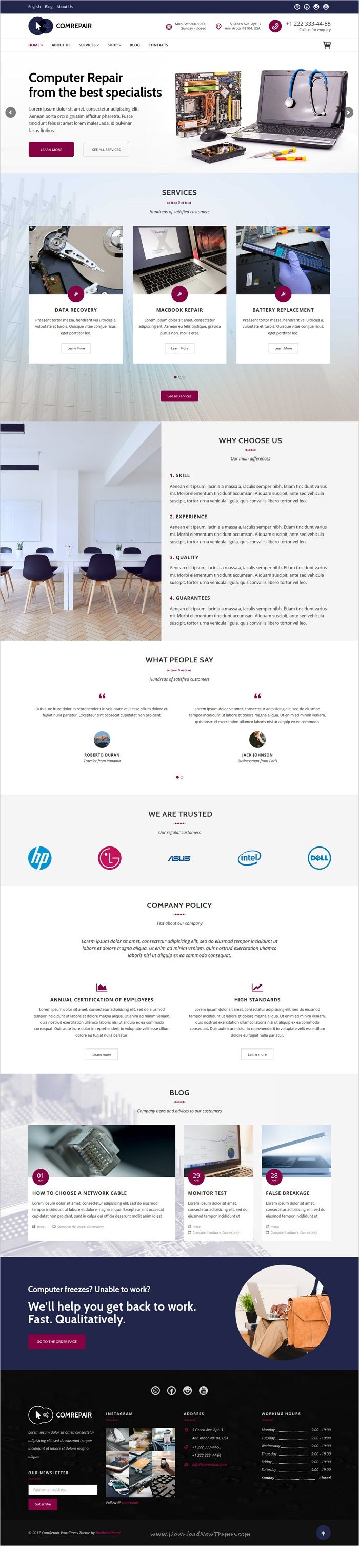 ComRepair is clean and modern design 4in1 responsive #WordPress theme for #electronics and mobile #repair services website download now > https://themeforest.net/item/comrepair-computer-repair-services-wordpress-theme/19836952?ref=Datasata